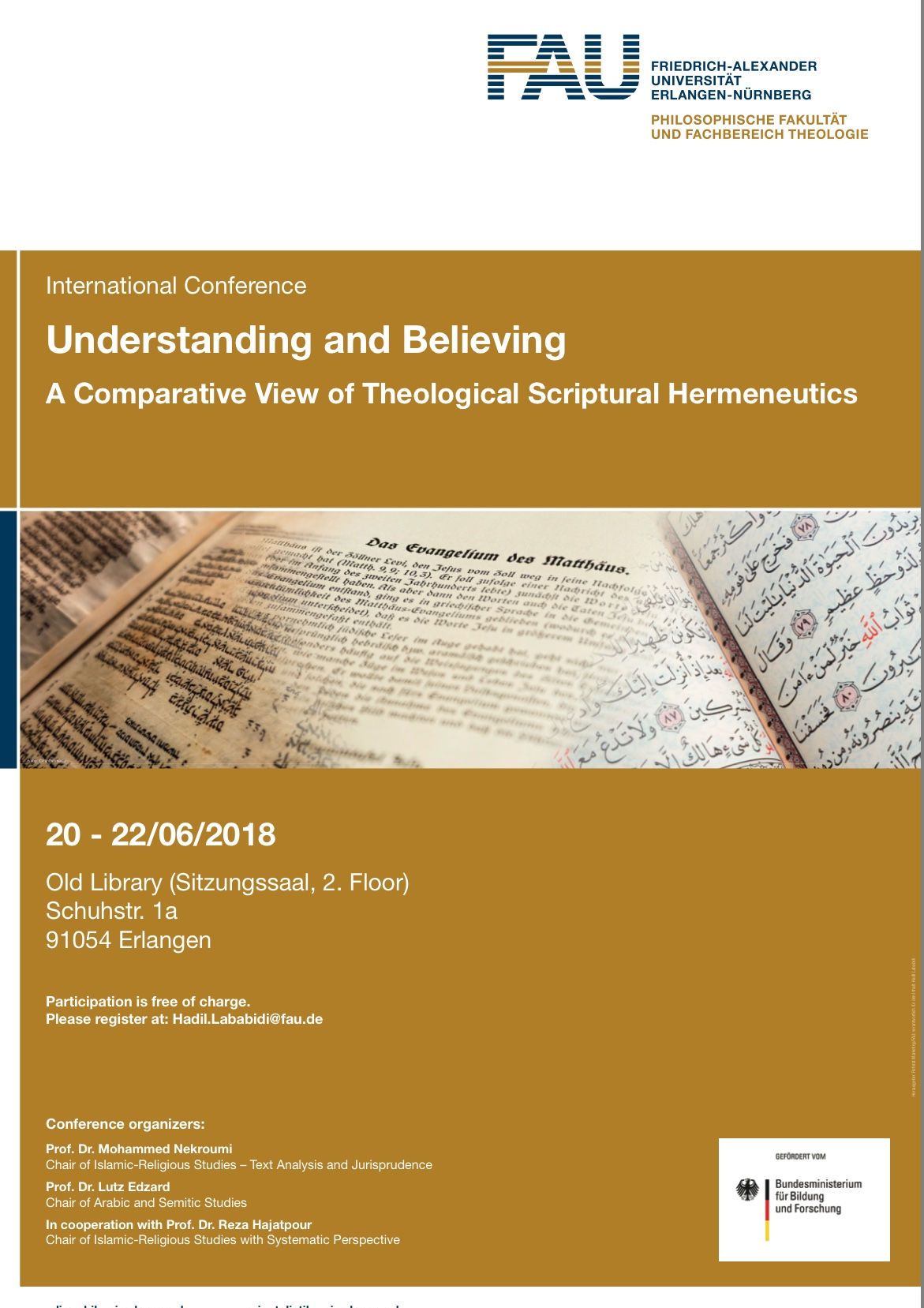 "Zum Artikel ""Impressionen von der Tagung 'Understanding and Believing'"""