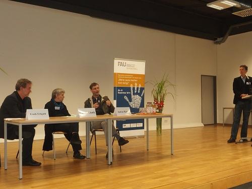 Diskussionsrunde im Rahmen der Tagung soziale Arbeit